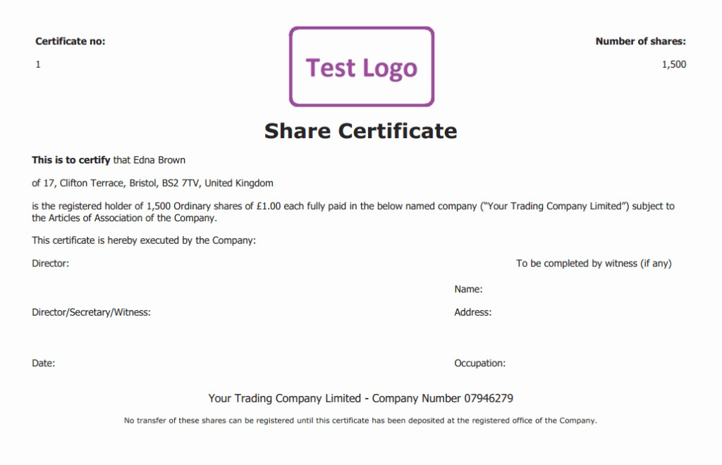 Stock Certificate Template Word Beautiful 13 Stock Certificate Templates Excel Pdf formats