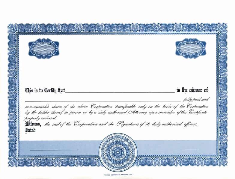 Stock Certificate Template Word Elegant 13 Stock Certificate Templates Excel Pdf formats