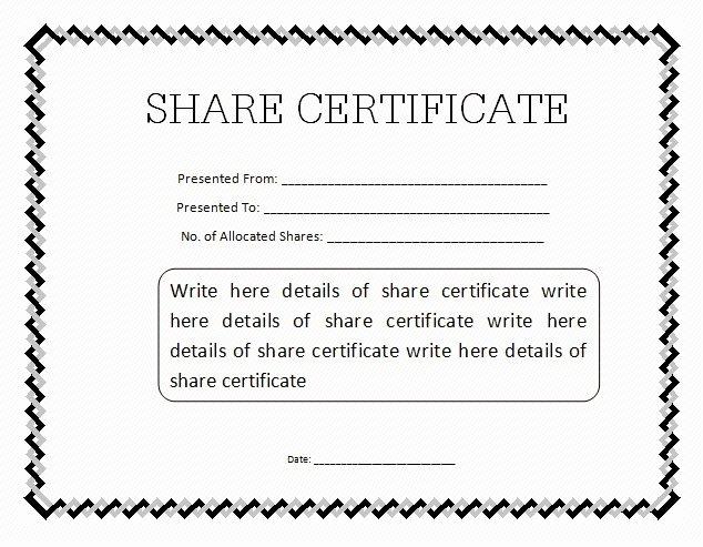 Stock Certificate Template Word Inspirational 10 Certificate Templates