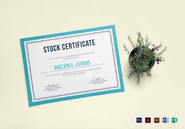Stock Certificate Template Word Inspirational Free 6 Sample Stock Certificate Templates In Google Docs