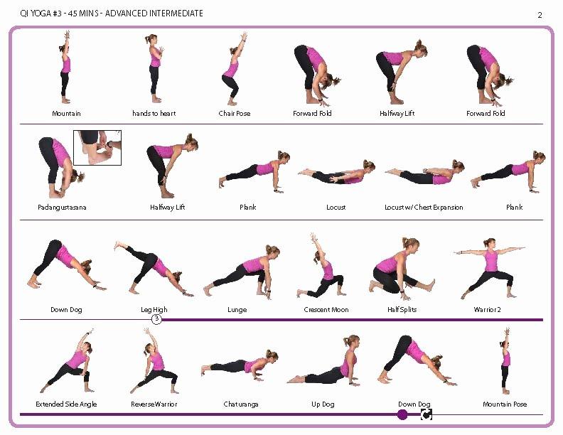Stretching Charts Free Printable Beautiful Qi Yoga 3 Line Power Yoga Class with Kylie Larson