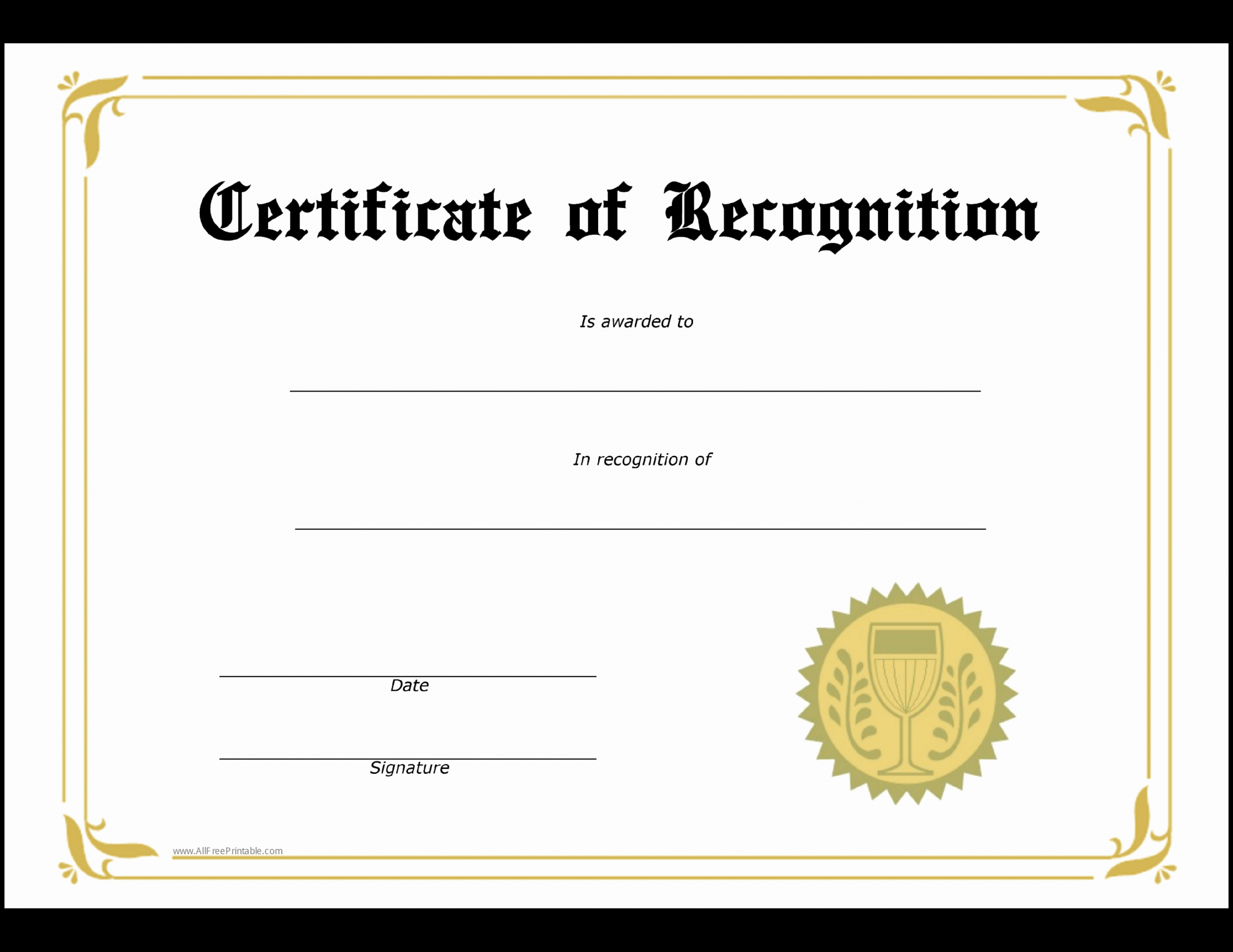 Student Certificate Template Google Docs Unique Student Recognition Award Template