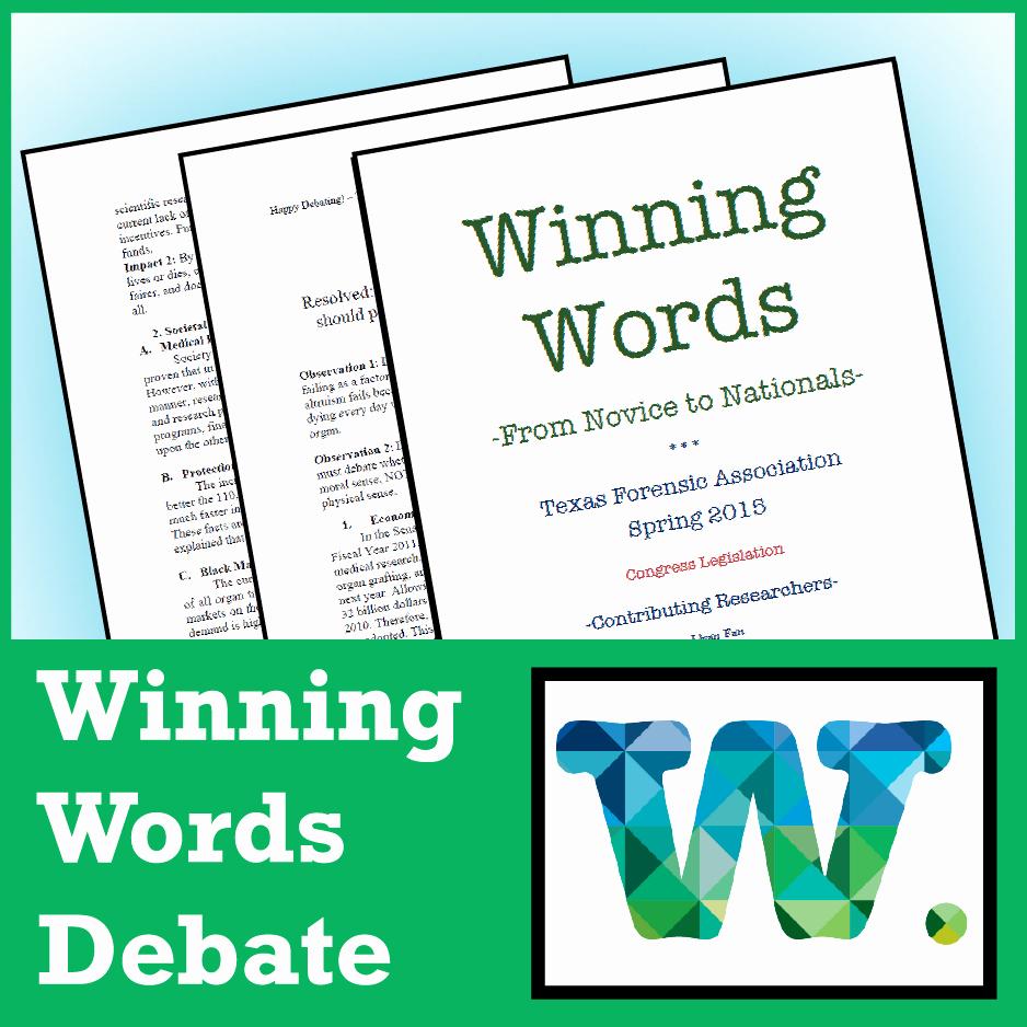 Student Congress Bill format Inspirational Winning Words Congressional Debate Sample