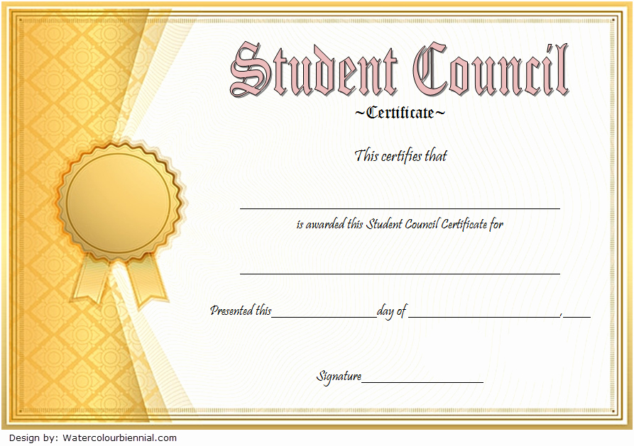 Student Council Awards Certificates Best Of Student Council Certificate Template 8 Professional Ideas
