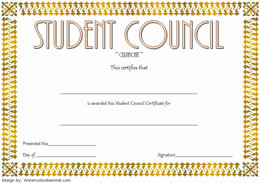 Student Council Awards Certificates Fresh Student Council Certificate Template 8 Professional Ideas