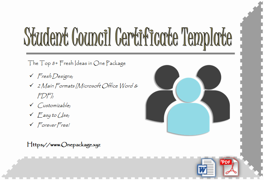 Student Council Awards Certificates Luxury Student Council Certificate Template top 8 Ideas Free