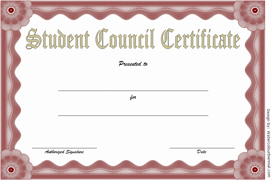 Student Council Awards Certificates New Student Council Certificate Template 8 Professional Ideas