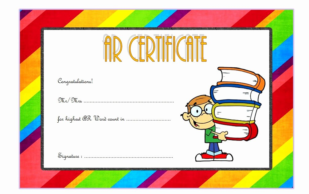 Student Council Certificates Printable Inspirational Accelerated Reader Certificate 7 Template Ideas