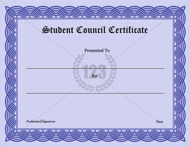 Student Council Certificates Printable Inspirational Precious Student Council Certificate Download
