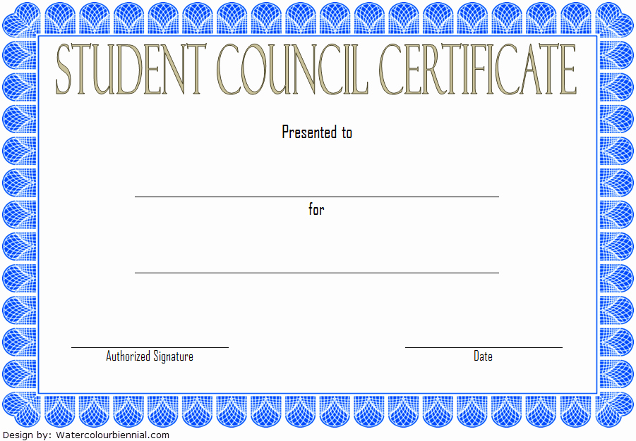 Student Council Certificates Printable New Student Council Certificate Template top 8 Ideas Free