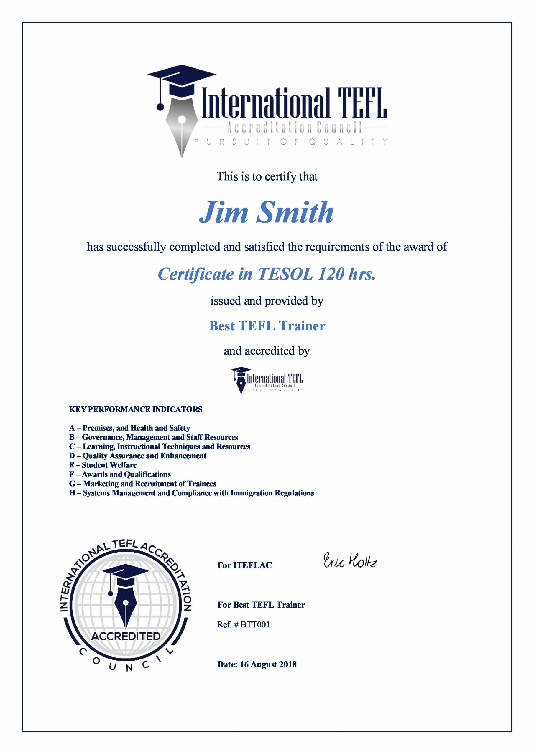 Student Council Certificates Template Awesome Iteflac Student Certificates Tefl Accreditation Iteflac