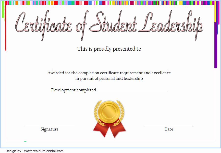 Student Council Certificates Template Beautiful Student Leadership Certificate Template [10 Designs Free]