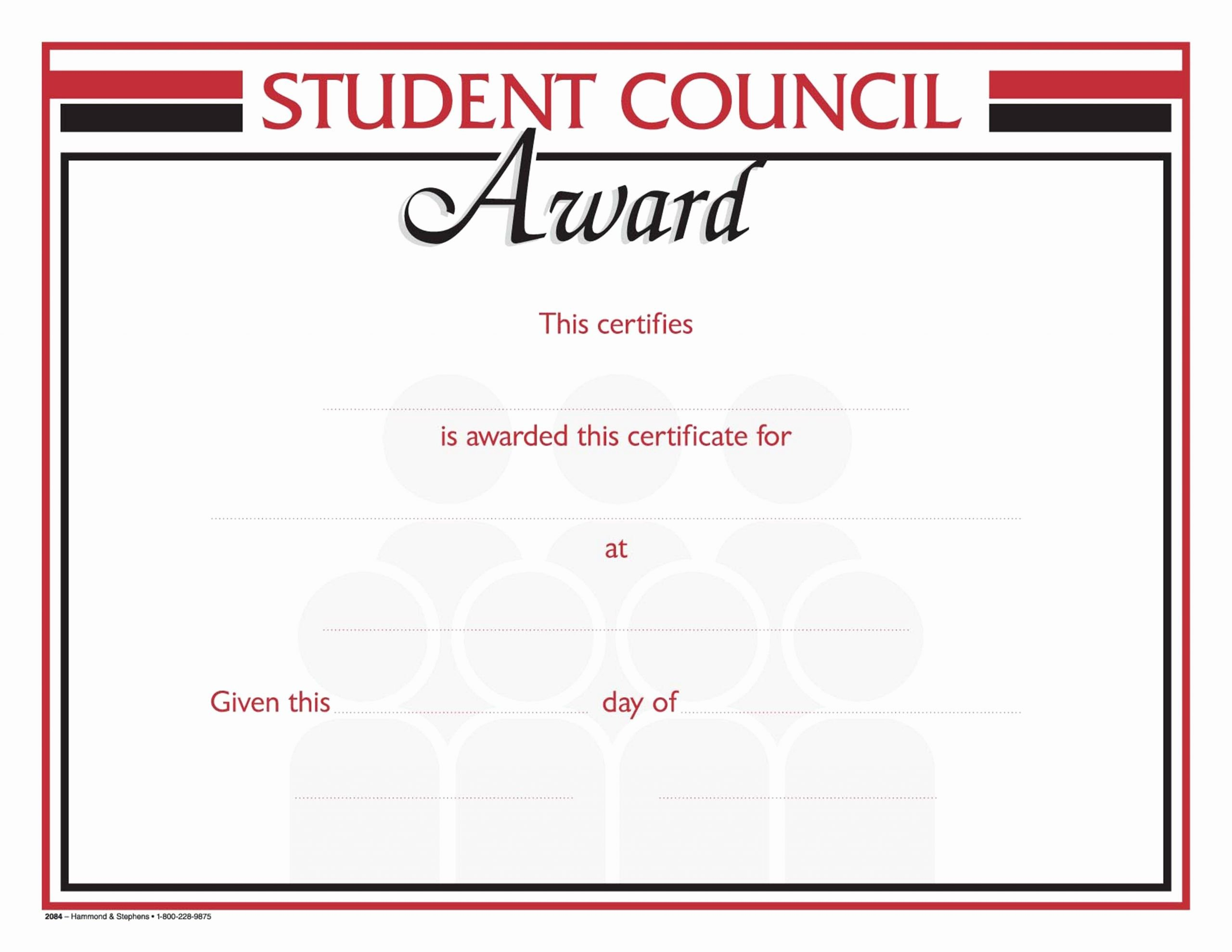 Student Council Certificates Template Best Of Hammond & Stephens