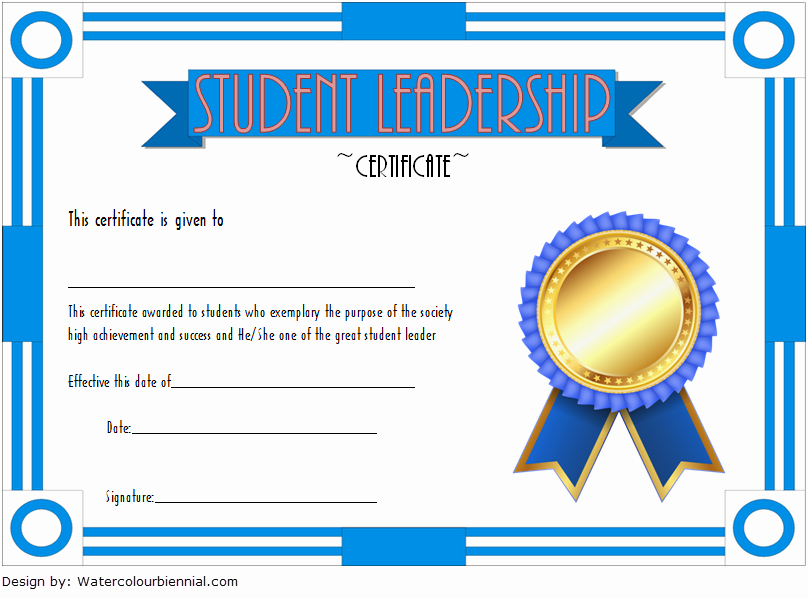 Student Council Certificates Template Best Of Student Leadership Certificate Template [10 Designs Free]