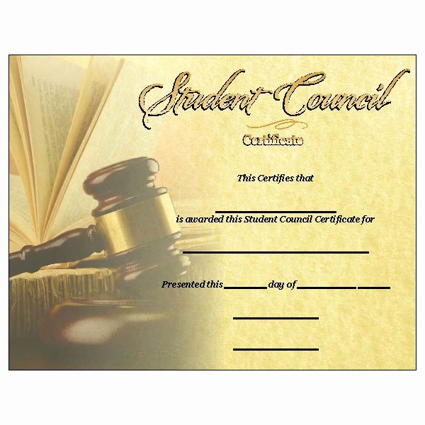 Student Council Certificates Template Luxury 30 Student Council Awards Certificates