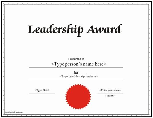 Student Council Certificates Template Luxury Education Certificate Leadership Award Certificate