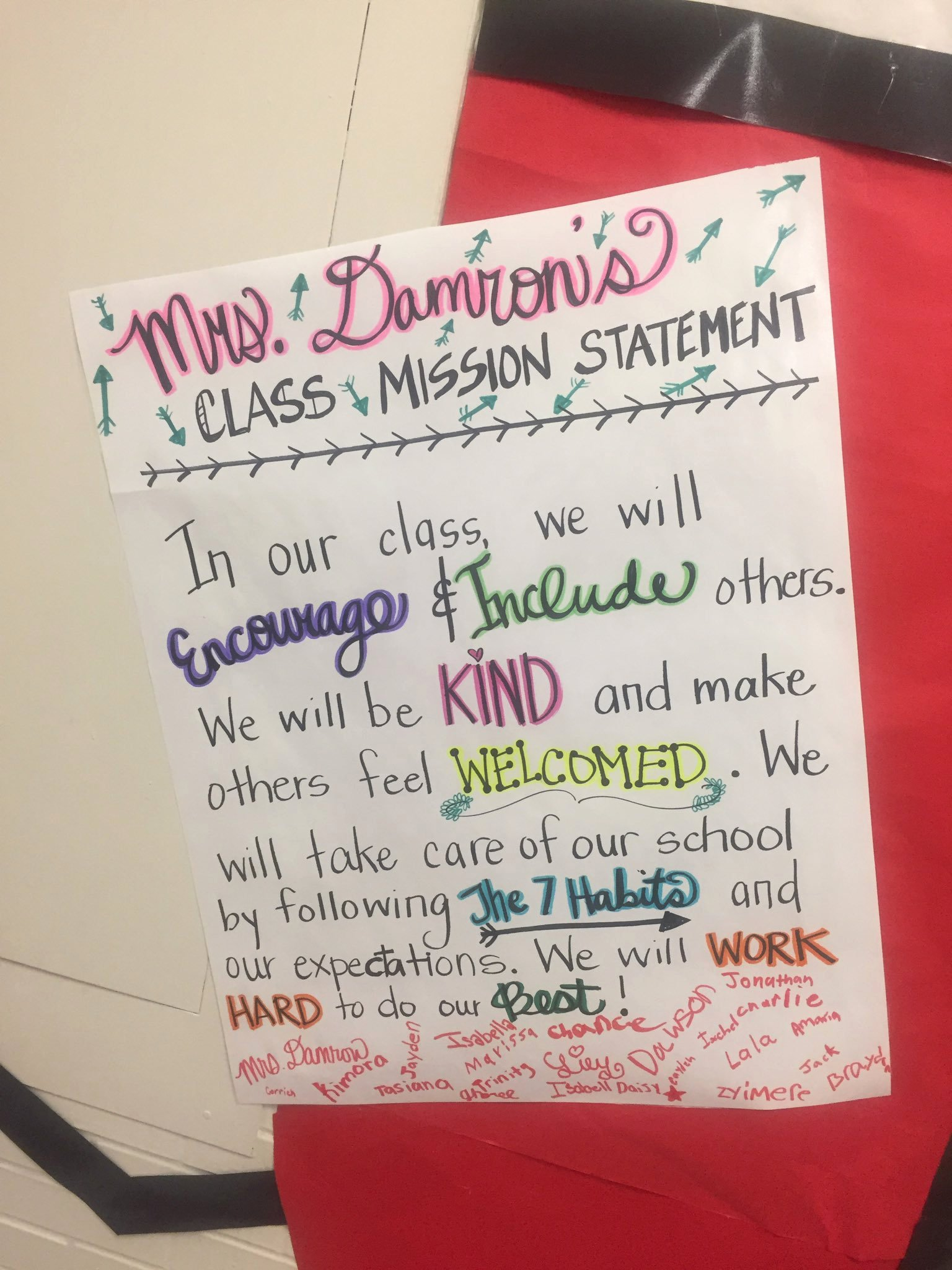 """Student Mission Statement Awesome Mnsleaders On Twitter """"classroom Mission Statements are"""