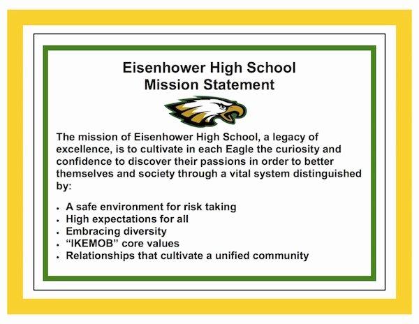 Student Mission Statement Elegant Vision Mission and Eslr S