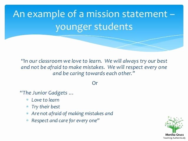 Student Mission Statement Examples Beautiful 10 Best Classroom Mission Statements Images On Pinterest