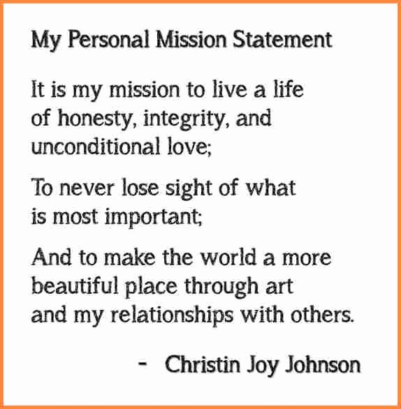 Student Mission Statement Examples Fresh 5 Personal Mission Statement Examples for Students