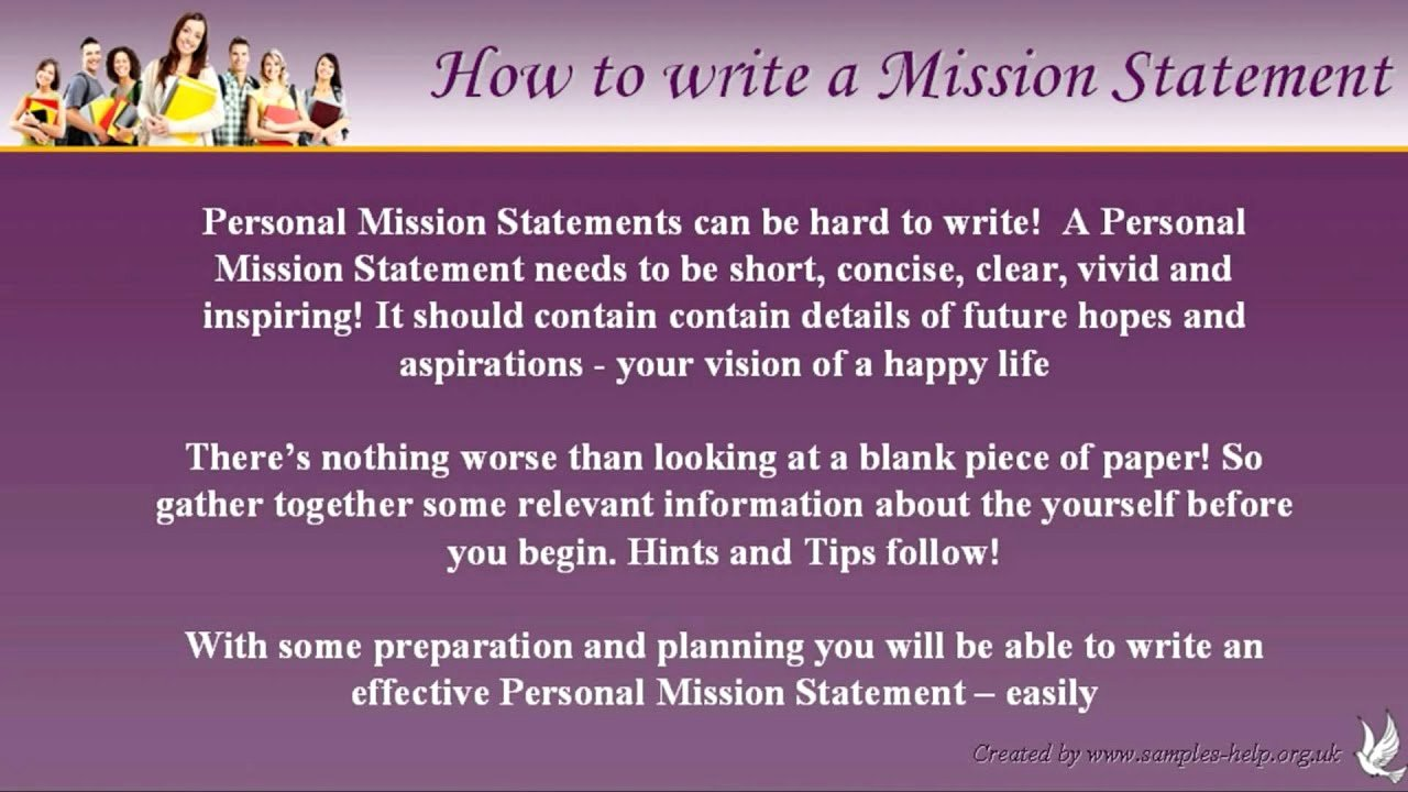 Student Mission Statement Examples Inspirational Examples Of Personal Mission Statements for Students