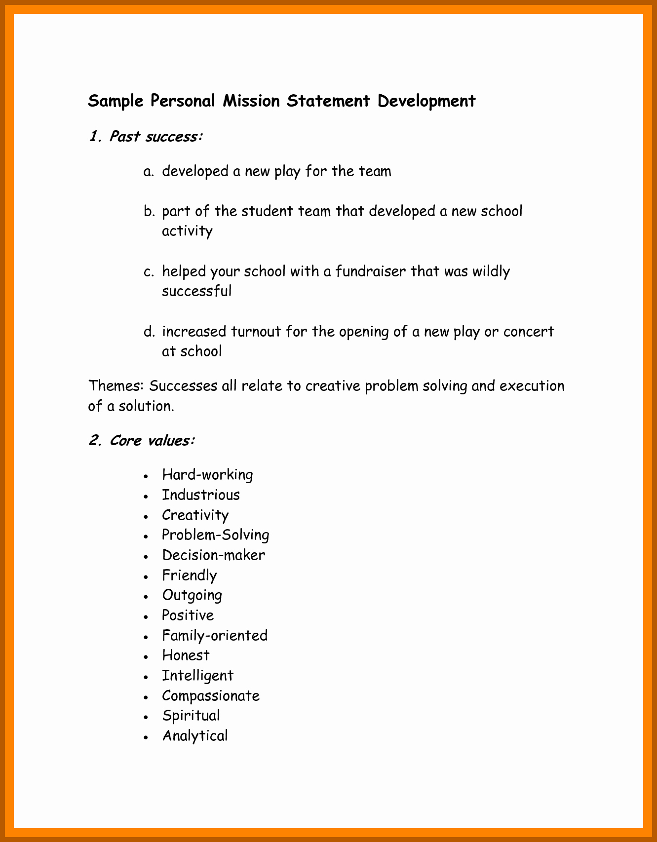 Student Mission Statement Examples Lovely 8 9 Examples Of A Mission Statement