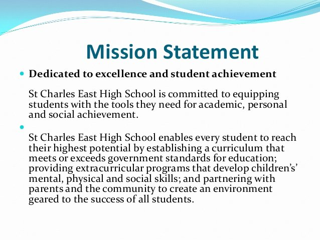 Student Mission Statement Examples New some Ideas On Essays and Essay Writing why This Document