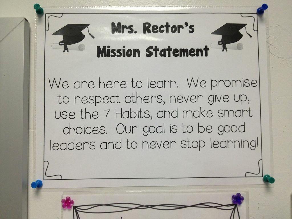 Student Mission Statement Unique Gina Holeman Rockfield Elementary School
