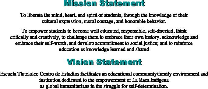 Student Mission Statement Unique Mission