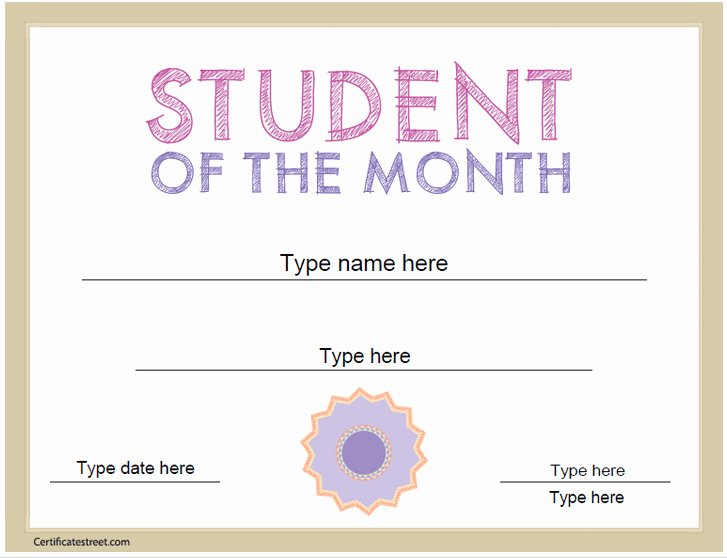 Student Of the Day Certificate Awesome Certificate Street Free Award Certificate Templates No