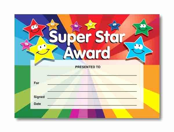 Student Of the Day Certificate Unique Learn foreign Language Skills Super Star Reward Certificate
