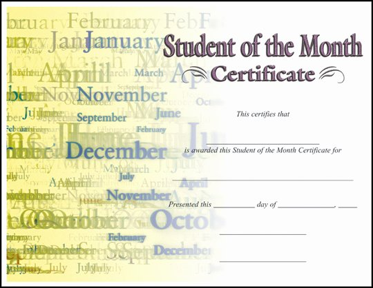 Student Of the Month Award Template Lovely Rising Stars Line Catalog Certificates