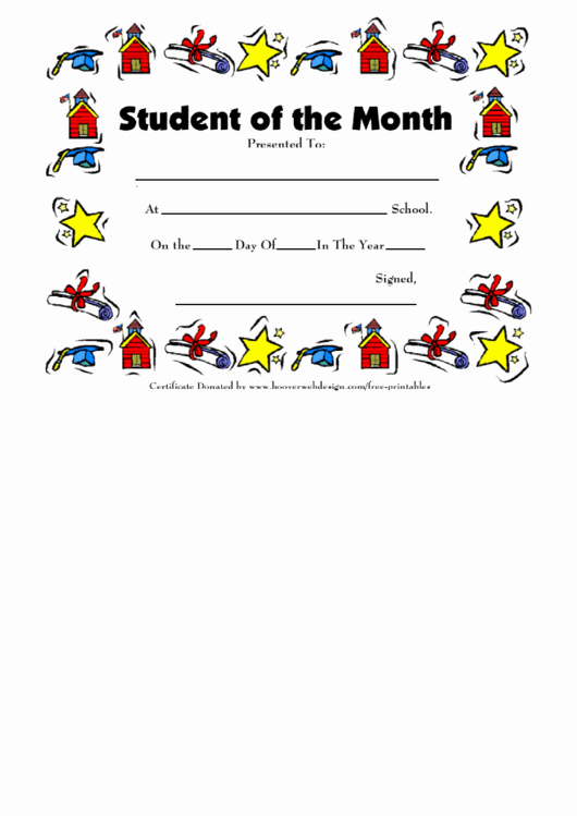 Student Of the Month Certificate Pdf Awesome Student the Month Funny Award Certificate Template