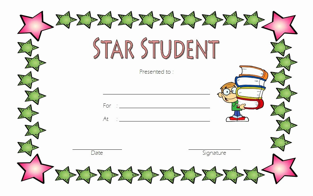 Student Of the Month Certificate Pdf Best Of Star Student Certificate Template top 10 Super Class Ideas