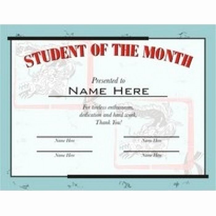 student of the month certificate style 6