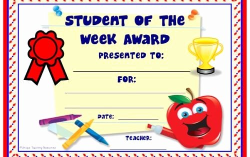 Student Of the Month Certificate Template Beautiful Achievement Award Certificates