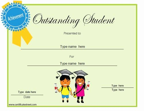 Student Of the Month Certificate Templates Free Awesome Education Certificate Outstanding Student Of the Month