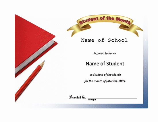 Student Of the Month Certificate Templates Free Inspirational Certificates All Star Student Certificate Close Back to