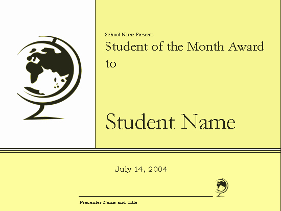student of the month award certificate elementary 91
