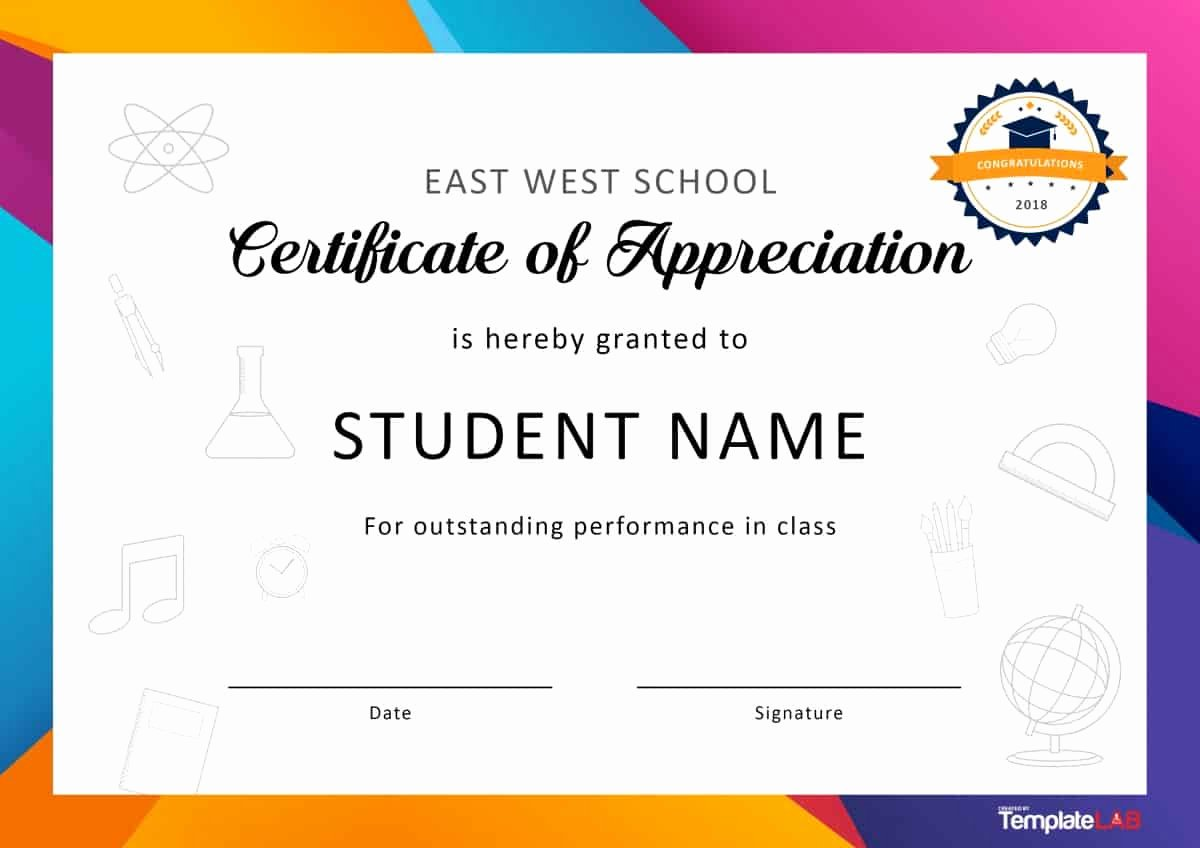 Student Of the Month Certificate Word Inspirational 30 Free Certificate Of Appreciation Templates and Letters