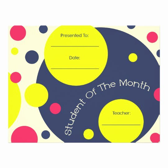 Student Of the Month Certificate Word Unique Student Of the Month Award Certificate Letterhead