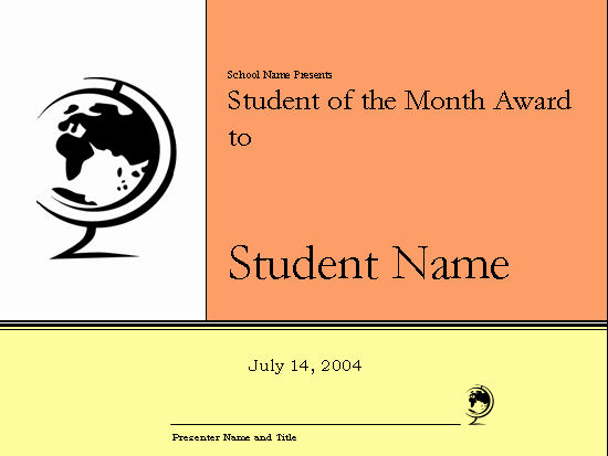 Student Of the Month Certificates Best Of Student the Month Award Certificate Elementary Free