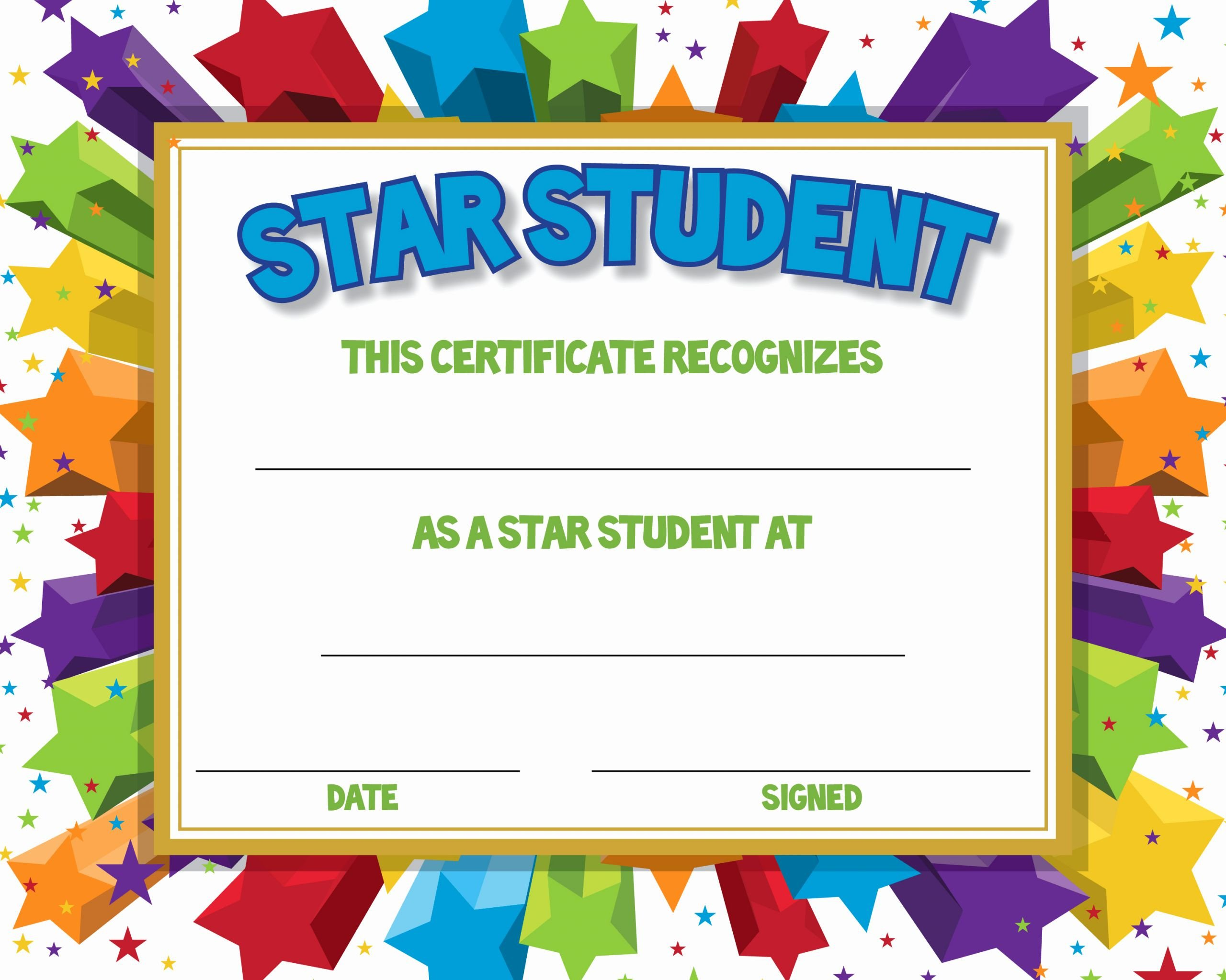Student Of the Month Certificates Free Beautiful Certificate for Student Of the Month Ctsm016 School