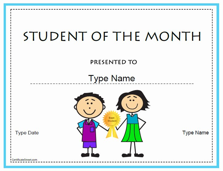 Student Of the Month Certificates Free Inspirational Certificate Street Free Award Certificate Templates No
