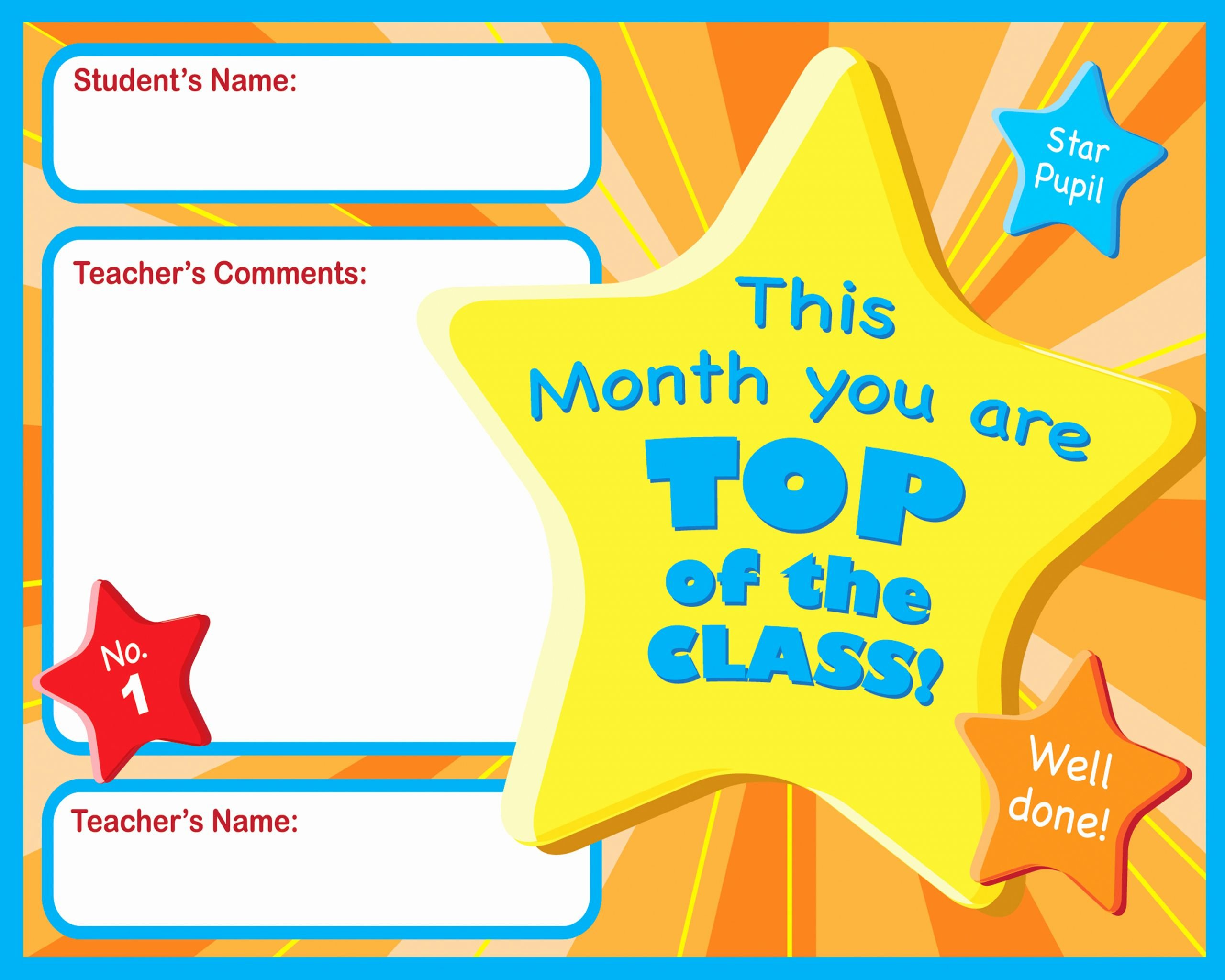 Student Of the Month Certificates Lovely Certificate for Student Of the Month Ctsm018 School
