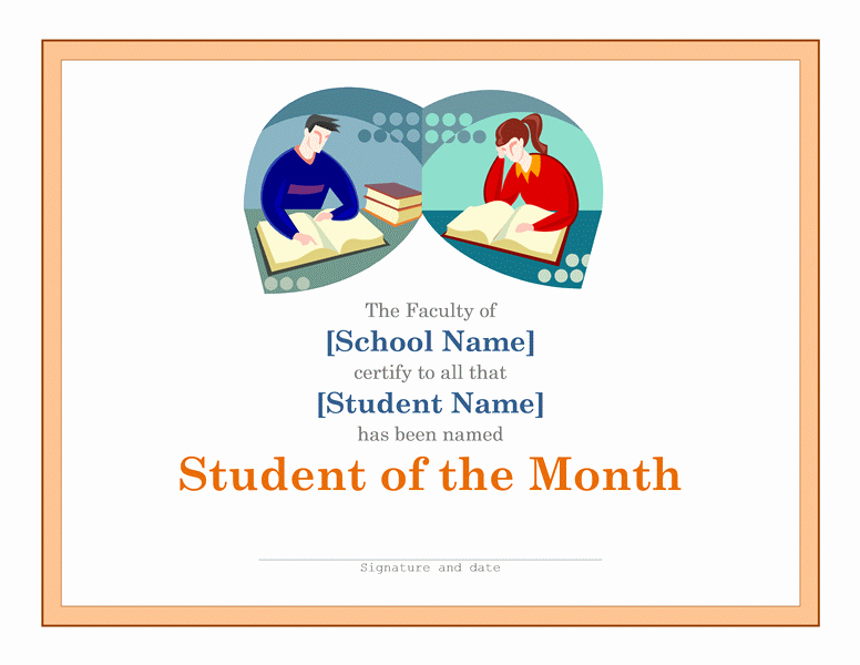 Student Of the Month Template Fresh Certificates Download Free Business Letter Templates and
