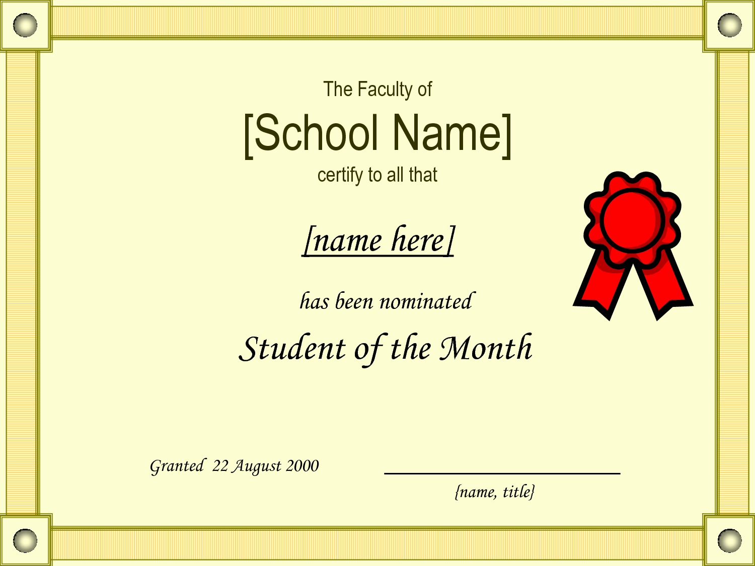 Student Of the Month Template Lovely Student Of the Month Certificate Template Quotes