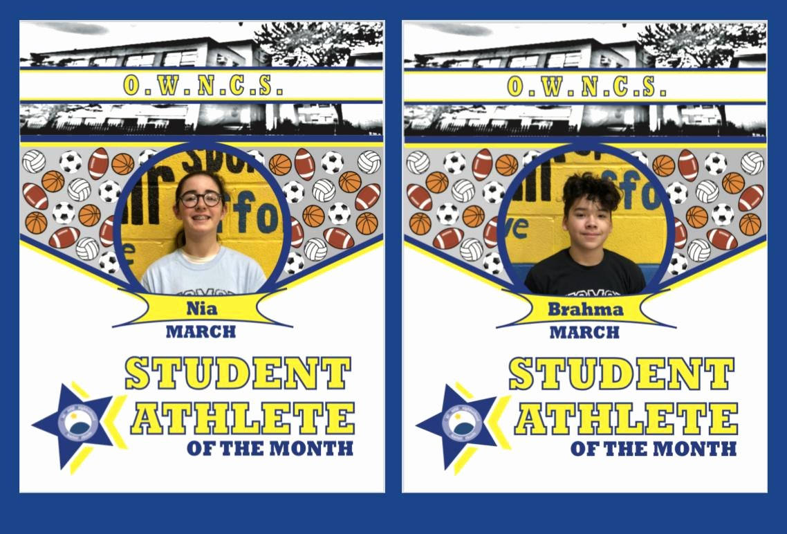 Student Of the Month Template Luxury March Student athletes Of the Month