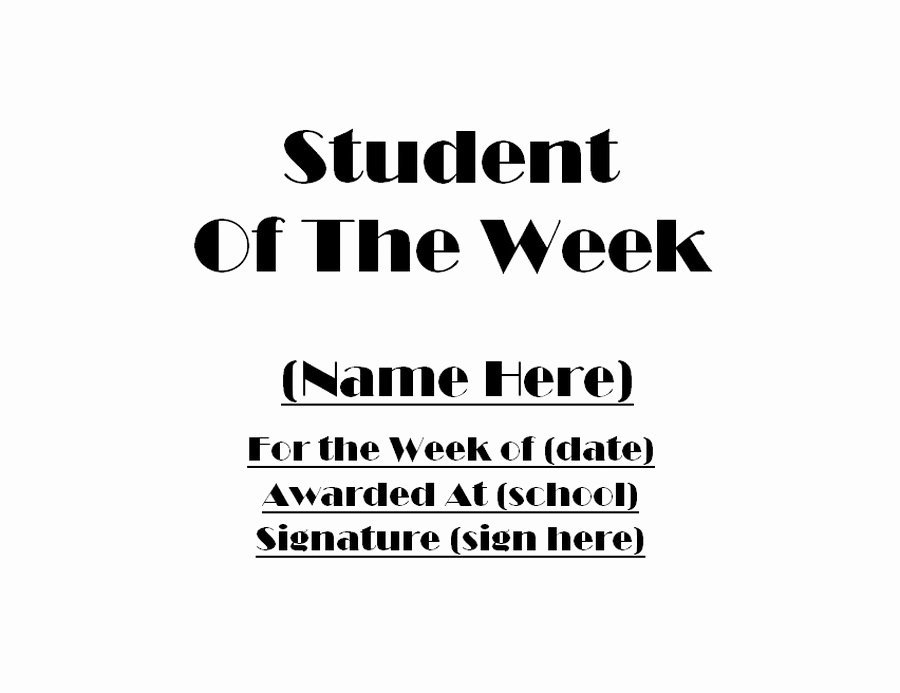 Student Of the Week Certificate Template Awesome Awards Free Templates Clip Art & Wording