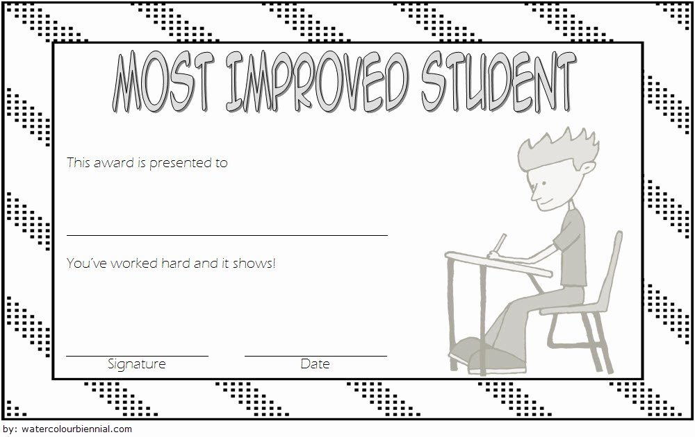 Student Of the Week Certificate Template Awesome Most Improved Student Certificate Printable 10 Best Ideas
